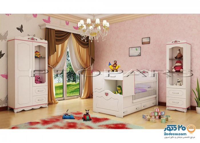 سرویس خواب کودک لنیا مدل پرنس